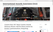 Intenational Awards Associates (IAA) Creative Pick: 2017 Muse Creative Awards Platinum Winner: Still the Planet Matters by Drezier Communications, Hong Kong | Dated June 19, 2017