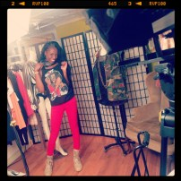 Wearing my Sho Nuff Tank from Harlem Underground