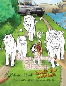 Sheba coloring book cover