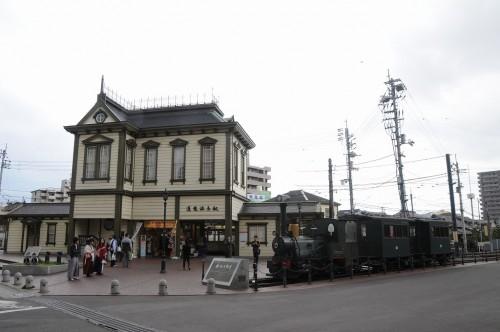 坊ちゃん列車 道後温泉駅にて