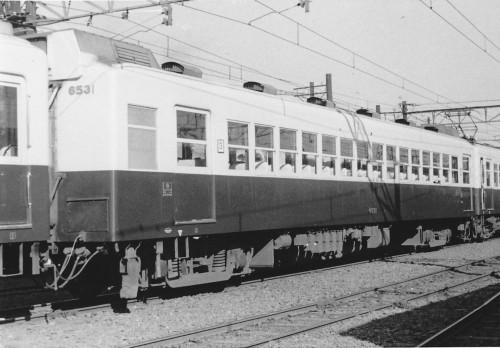 近鉄名古屋線クハ6531号、1958.11.03