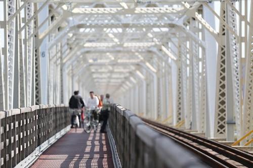 まもなく閉鎖赤川仮橋/2013.10.24/Posted by 893-2
