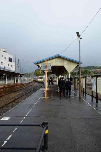 現在の木次駅 かつてC56が待機した3番線は使用できない