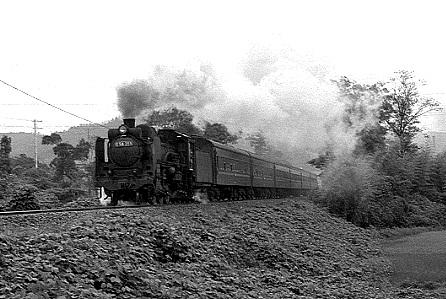 C58355牽く臨時列車「明治号」 1968-9-13撮影