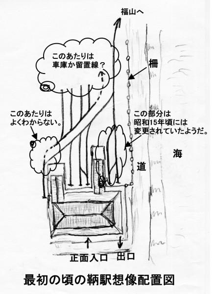 鞆駅想像配置図