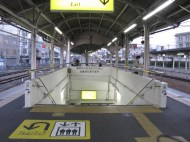 地下道への入り口