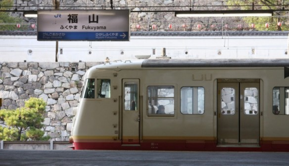 平成25年3月25日 福山駅にて