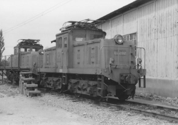 改軌工事を受けた電気機関車ED200型