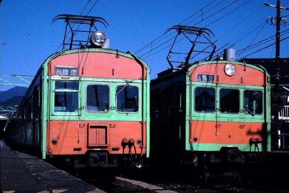 クモハ73061(左)とクハ73001(右) 昭和56年3月 可部駅