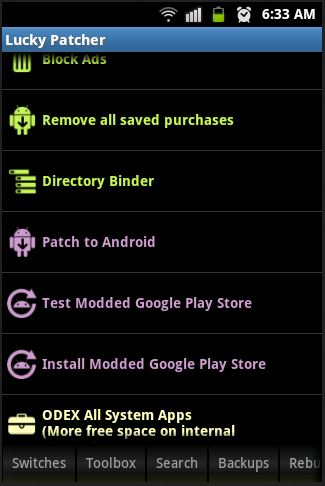 hack in app purchase with luckypatcher