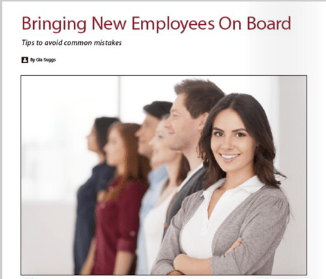 Bringing New Employees On Board