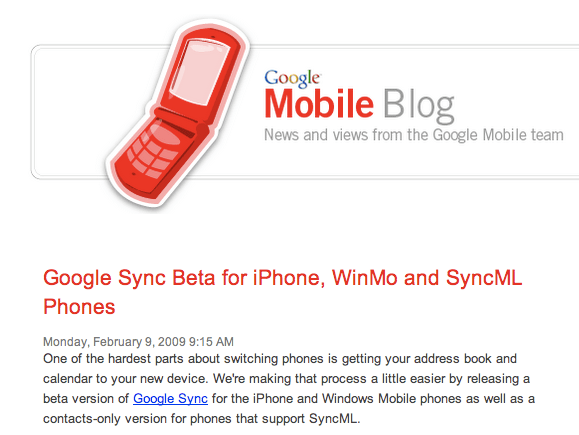 Google adds AirSync for iPod/iPhone
