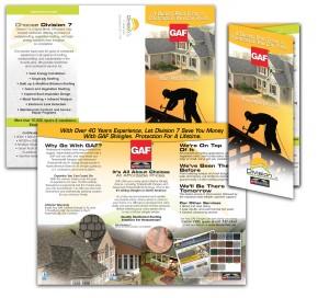 drgli division 7 brochure GAF design print work