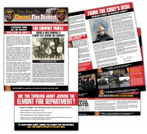drgli elmont newsletter 2 design print work