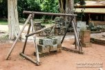 This is the tool used to grind the stones into shape so that no mortar is needed.
