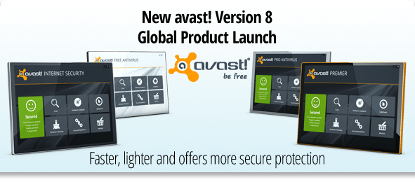 New avast! Version 8 Global Product Launch. Faster, lighter and offers more secure protection