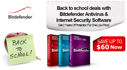 Bitdefender US – Back to school deals with Bitdefender Antivirus & Internet Security Software
