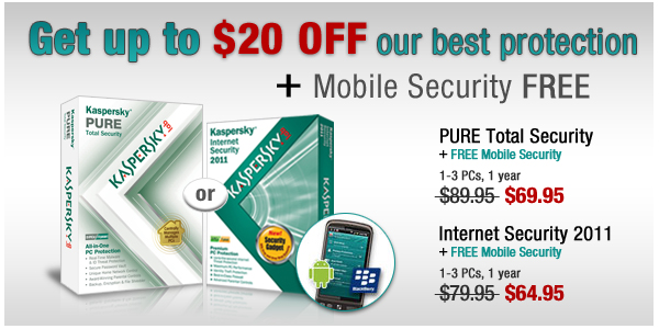 Get up to $20 OFF our best protection + Mobile Security FREE