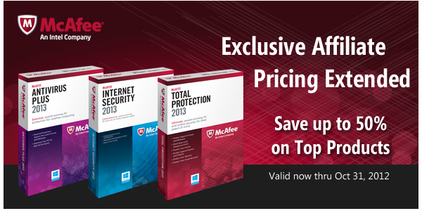 McAfee Exclusive Affiliate Pricing Extended