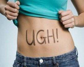 ugh! on stomach
