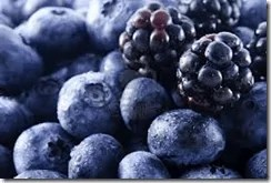 black and blue berries