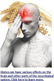 man with brain lit up in front of wheat