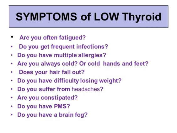 Image result for low Thyroid symptoms