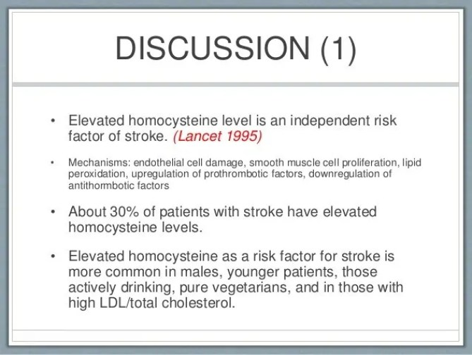Image result for homocysteine and strokes
