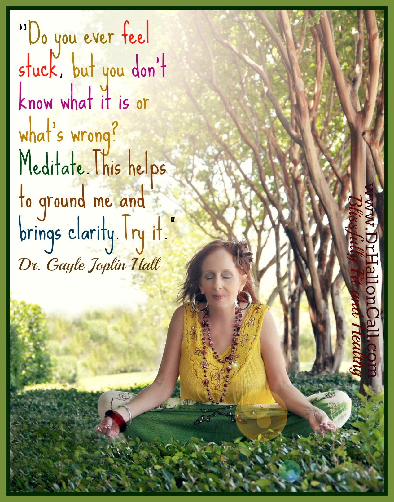 Do You Ever Feel Stuck But Don T Know What S Wrong Meditate Dr Hall