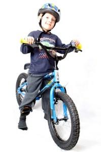 bicycling child
