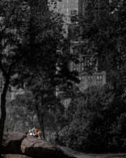 A couple of boys soaking in the sun in Central Park. I thought I'd highlight them by decolorizing the background.