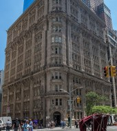 An example of the exquisitely detailed architecture in some of the buildings in Manhattan.