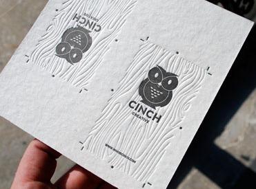 cinch 1 Business Card #1   20 cartes de visite avec effet papier