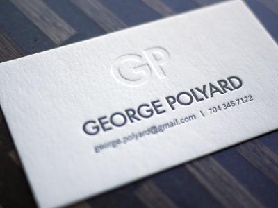 george polyard Business Card #1   20 cartes de visite avec effet papier
