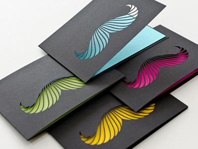 400x300 karten mustache schwarz 01 Business Card #1   20 cartes de visite avec effet papier