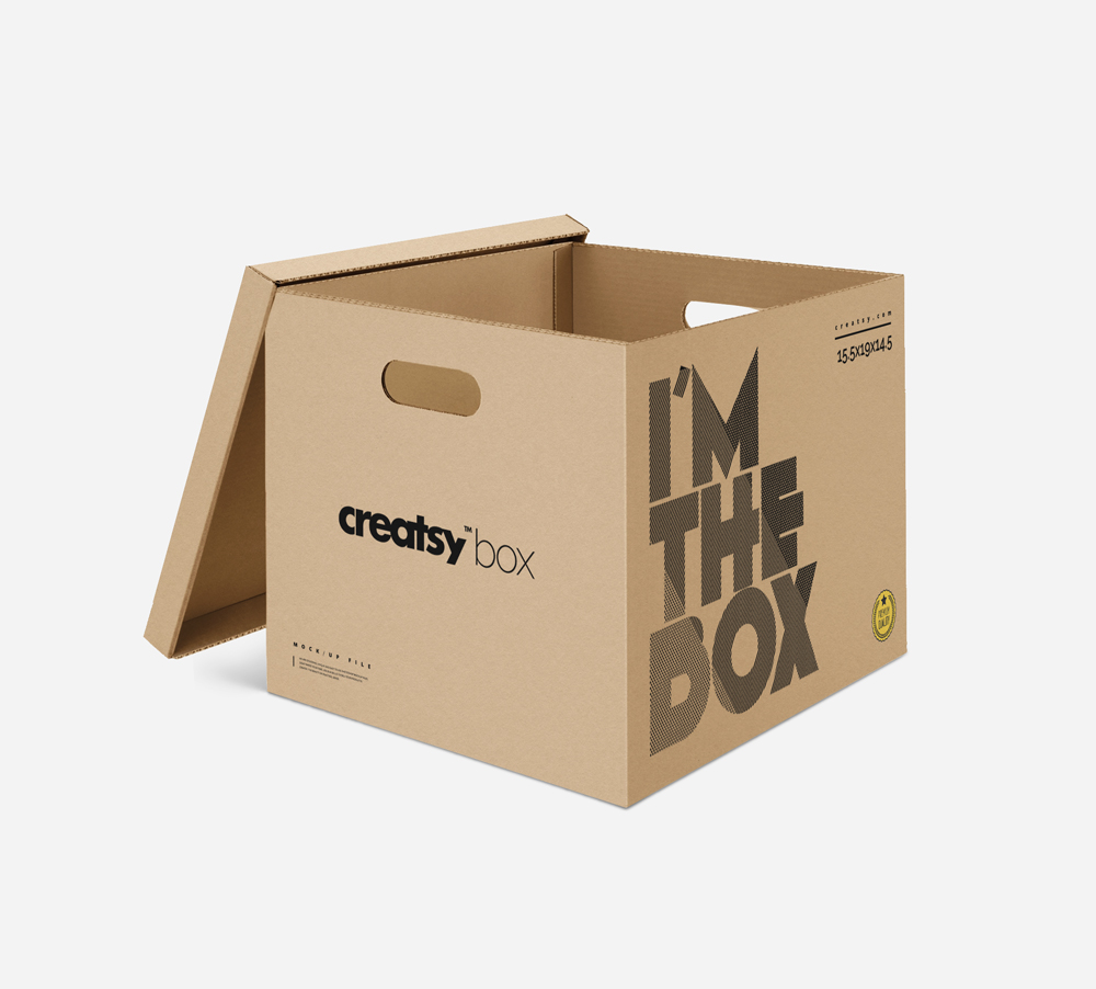 Download Free Packaging Box With Lid Mockup | Dribbble Graphics