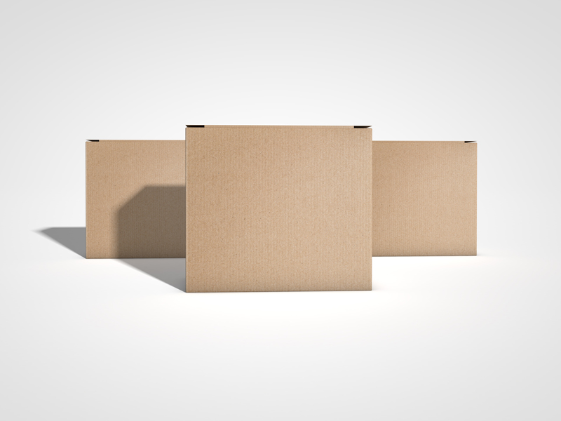 Download Free Product Delivery Box Mockup For Cargo | Dribbble Graphics