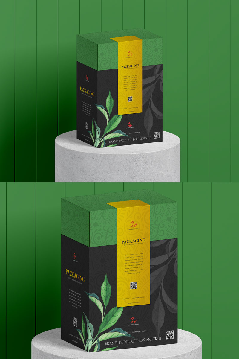 Download Free Organic Food Box Packaging Mockup | Dribbble Graphics