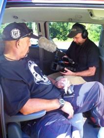 Thomas Moore and David Ridgen get ready to shoot in Franklin County, Mississippi (2006-09). (David Ridgen © 2006)