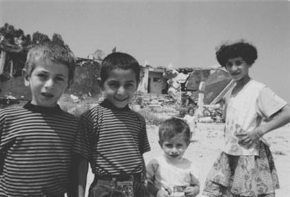 Tyre - Bashed Building Refugees, Lebanon 1996