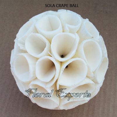 Shola Crape Ball Natural-Shola Balls Wholesale