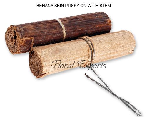 Banana Skin Possy on wire Stem
