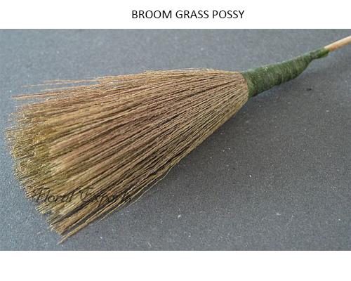 Broom Grass Possy on Stick