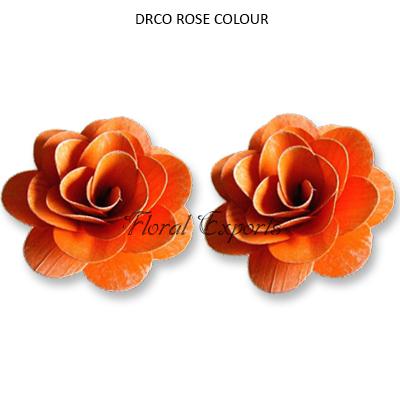 Wood Deco Rose 6cm Colours - Wholesale Wood Flowers Suppliers