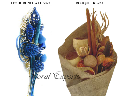 Dried Exotics Bouquets - Wholesale Exotics Bouquets