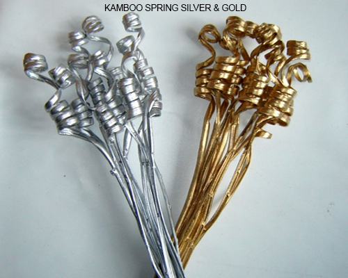 Kamboo Spring Twist Gold / Silver - Christmas Decorations