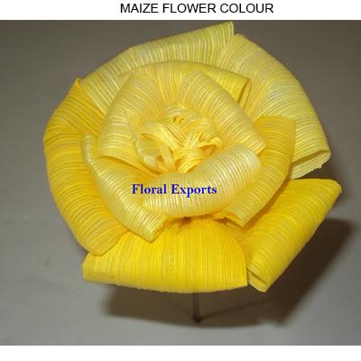 Maize Flowers 10cm on Stick Colour