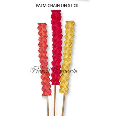 Palm Chain Flat on Stick - Wholesale Decoration Sticks