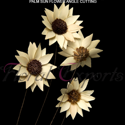 Palm Sunflowers Angle Cutting - Bulk Deco Flowers Wholesale Supplies