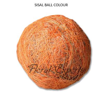 Sisal Fibre Ball Colour - Decorative Bowl Fillers Balls